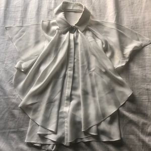 Alexis white backless sexy button down